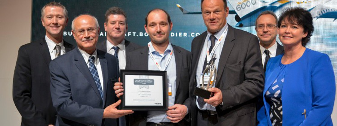 TAG Aviation Le Bourget Maintenance Services wins 2015 Bombardier Excellence Award